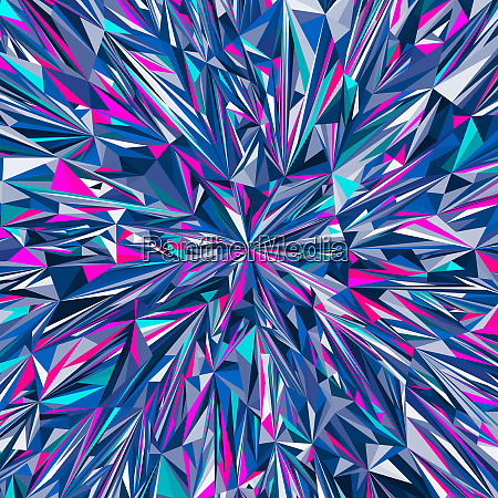vibrant angular blue and pink abstract