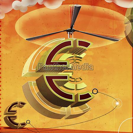 eurobild mit hubschrauberpropeller