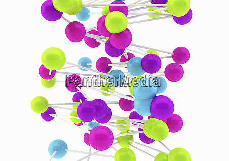 close up of connected multicolored balls
