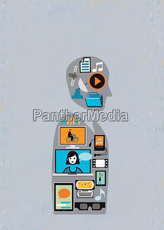 drahtlose technologie arbeit unterhaltung und social