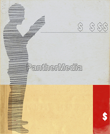 silhouette of man reading and dollar