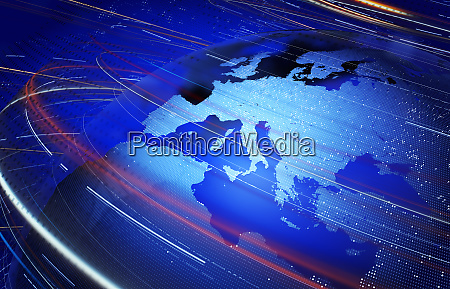 data swirling around europe and the