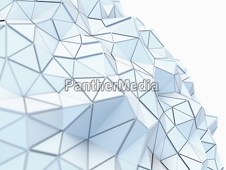 kurven, strukturierte, niedrige, poly-oberfläche, der, verbundenen - 26006262
