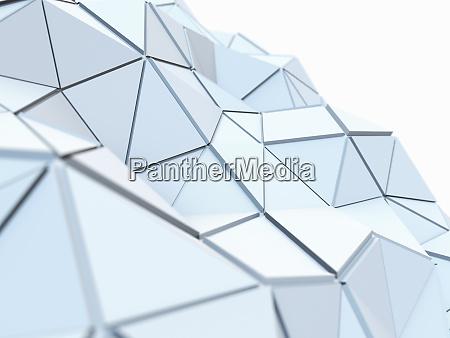 kurven, strukturierte, niedrige, poly-oberfläche, der, verbundenen - 26006264