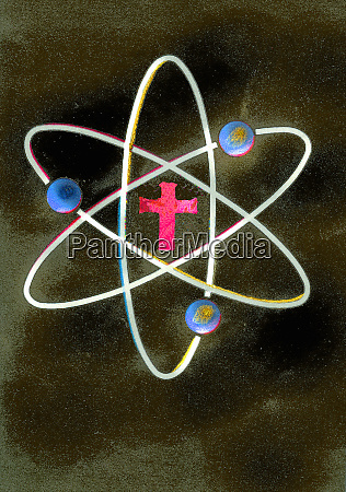 cross at the center of atom