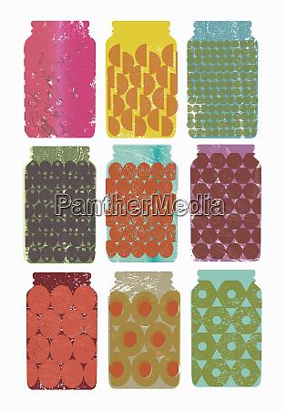 variety of full jars