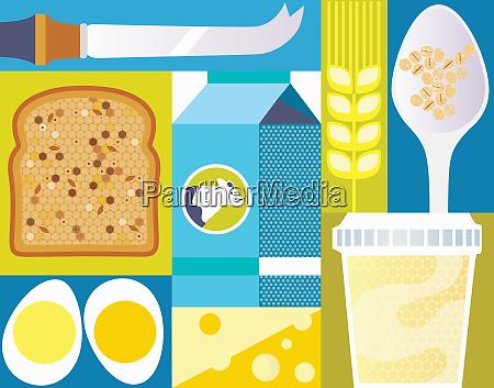 vollkornbrot eier und milchprodukte schliessen