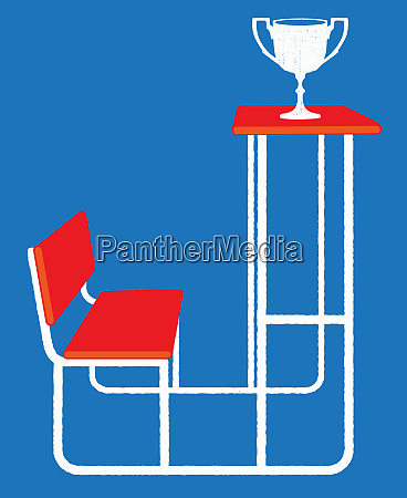 award trophy on top of tall