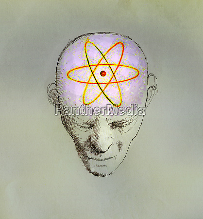 atom symbol das das gehirn des