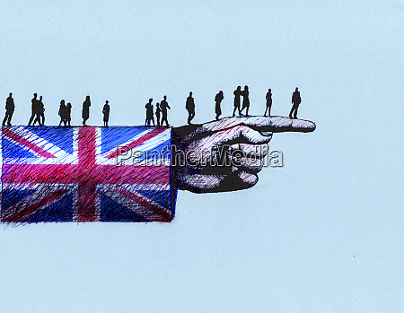 people walking along arm in british
