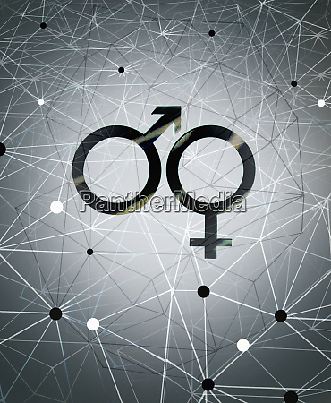 male and female gender symbols and