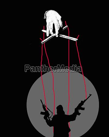 marionette kontrolliert terrorpuppe