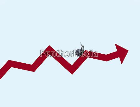 schnecke kriechen entlang der linie graphen