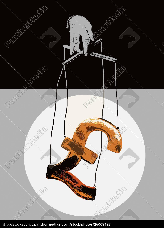 hand, manipulation, spound, symbol, puppe, auf - 26008482