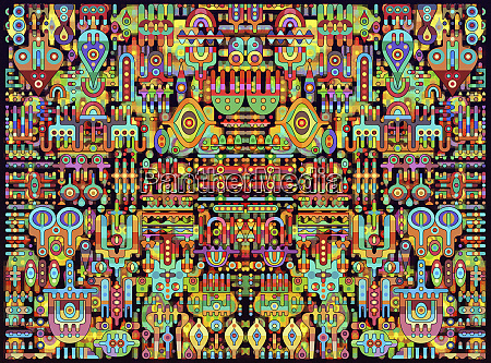 multicolored psychedelic abstract