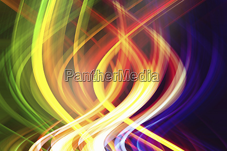 abstract pattern of intertwined colorful light