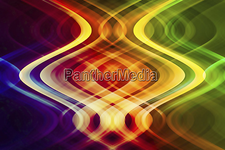 abstract pattern of symmetrical intertwined colorful