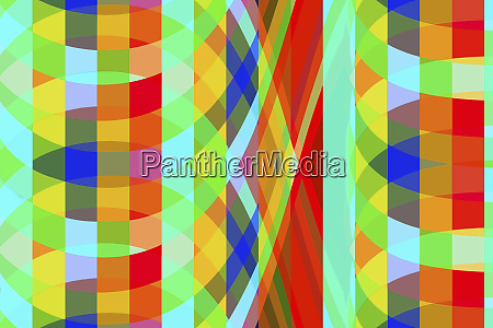 crisscross abstract curved tile pattern