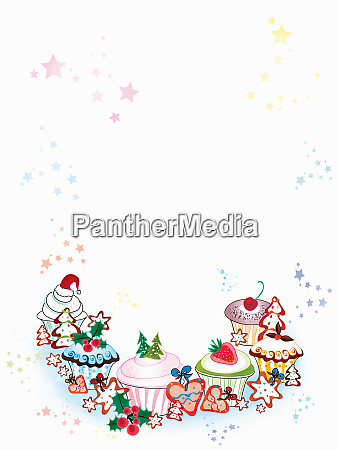 blank invitation with border of christmas
