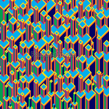 three dimensional abstract backgrounds block pattern