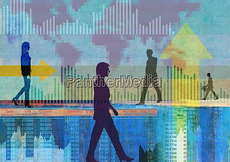 businessmen and businesswomen in global finance