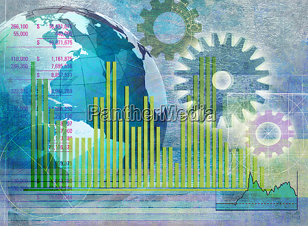 globe cogs bar graphs and financial