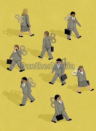 wind up businessmen and businesswomen