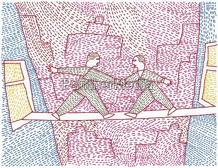 two men bridging the gap between