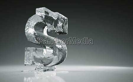 melting frozen dollar sign