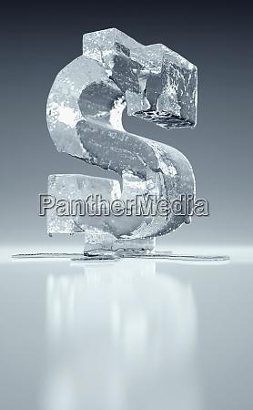 melting frozen dollar sign
