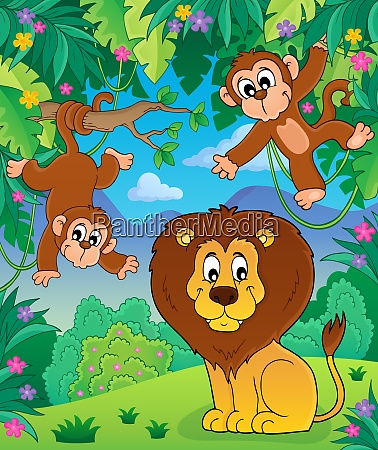 animals in jungle topic image 7