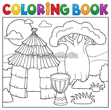 coloring book african thematics 1