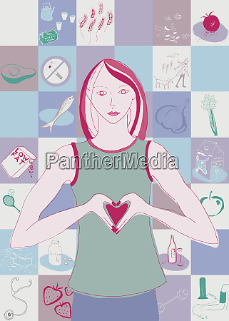 woman with healthy heart through healthy
