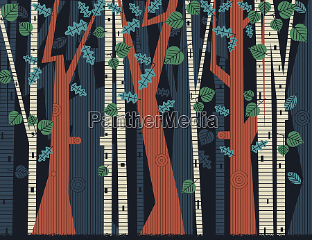backgrounds pattern of trees and leaves