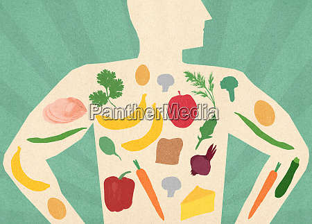 variety of healthy food inside of