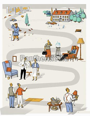 AEltere menschen planen altersheim