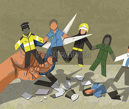 schere die arbeitsplaetze im oeffentlichen sektor