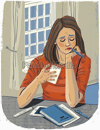 student fuehlt sich krank und nimmt