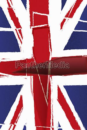 verkrampft union jack fahne