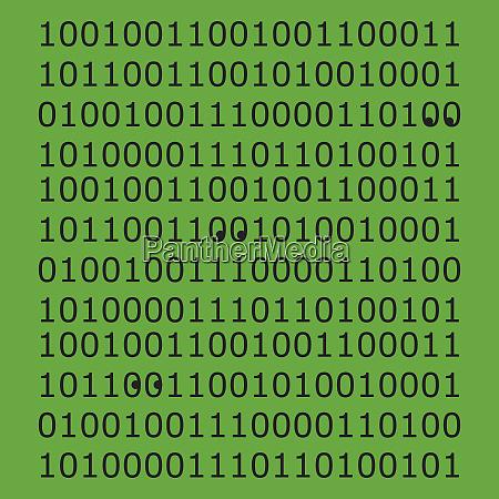 augen im binaeren code muster