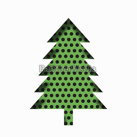 single paper cut effect christmas tree