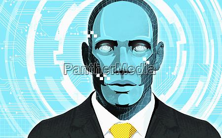 cyborg geschaeftsmann