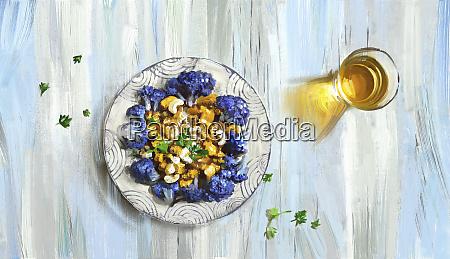 purple cauliflower and cashew nut curry