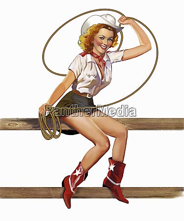 retro vintage pin up girl in