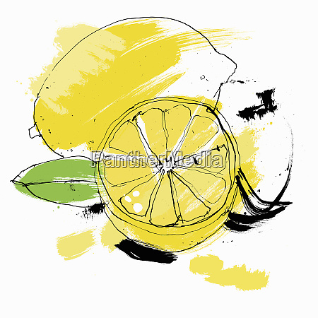 whole and cut lemon