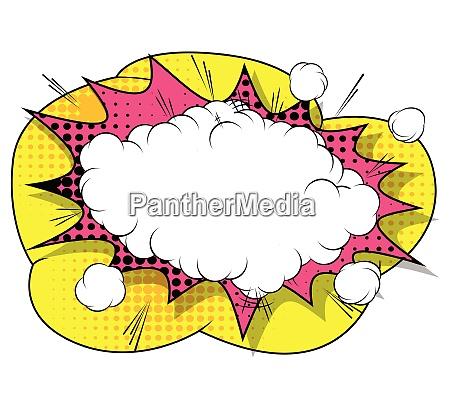 vector retro comic buch explosionsblase
