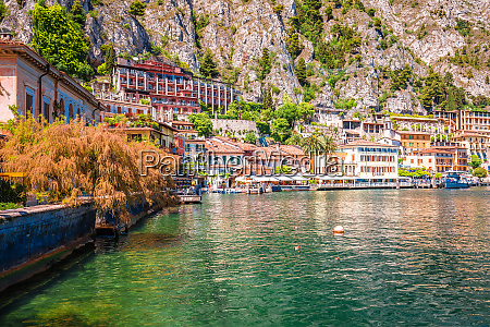 limone sul garda turquoise waterfront and