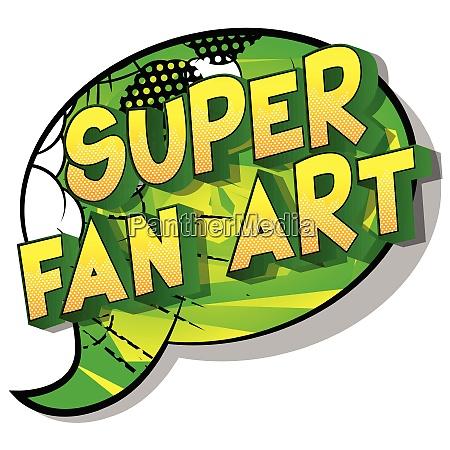 super fan art vector illustrated