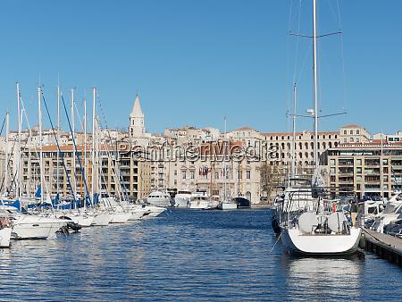 marseille city hall and harbor france
