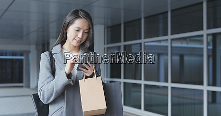 woman use of mobile phone and